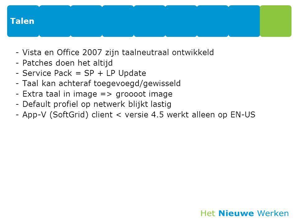 Talen Vista en Office 2007 zijn taalneutraal ontwikkeld. Patches doen het altijd. Service Pack = SP + LP Update.
