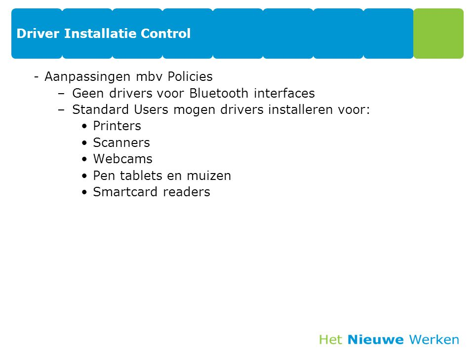 Driver Installatie Control