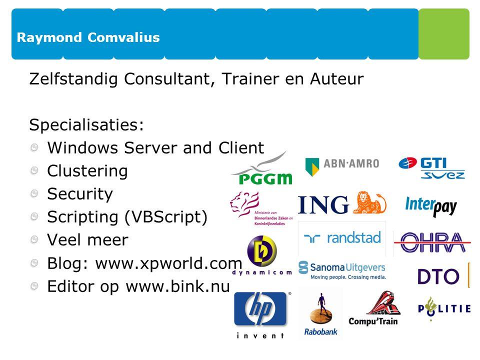 Zelfstandig Consultant, Trainer en Auteur Specialisaties: