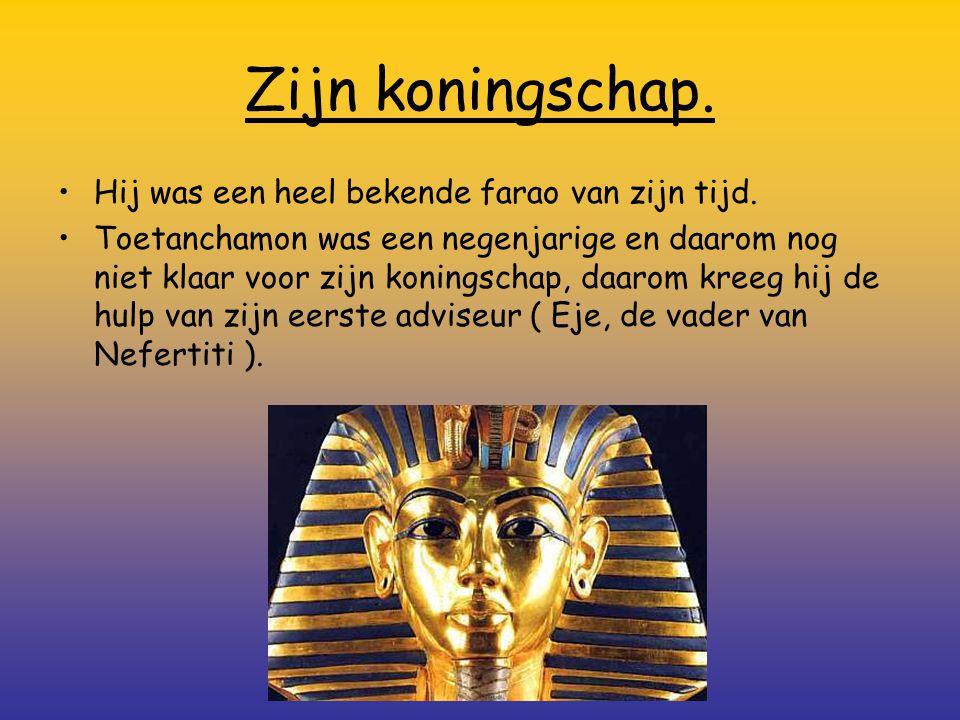 Zijn koningschap. Hij was een heel bekende farao van zijn tijd.