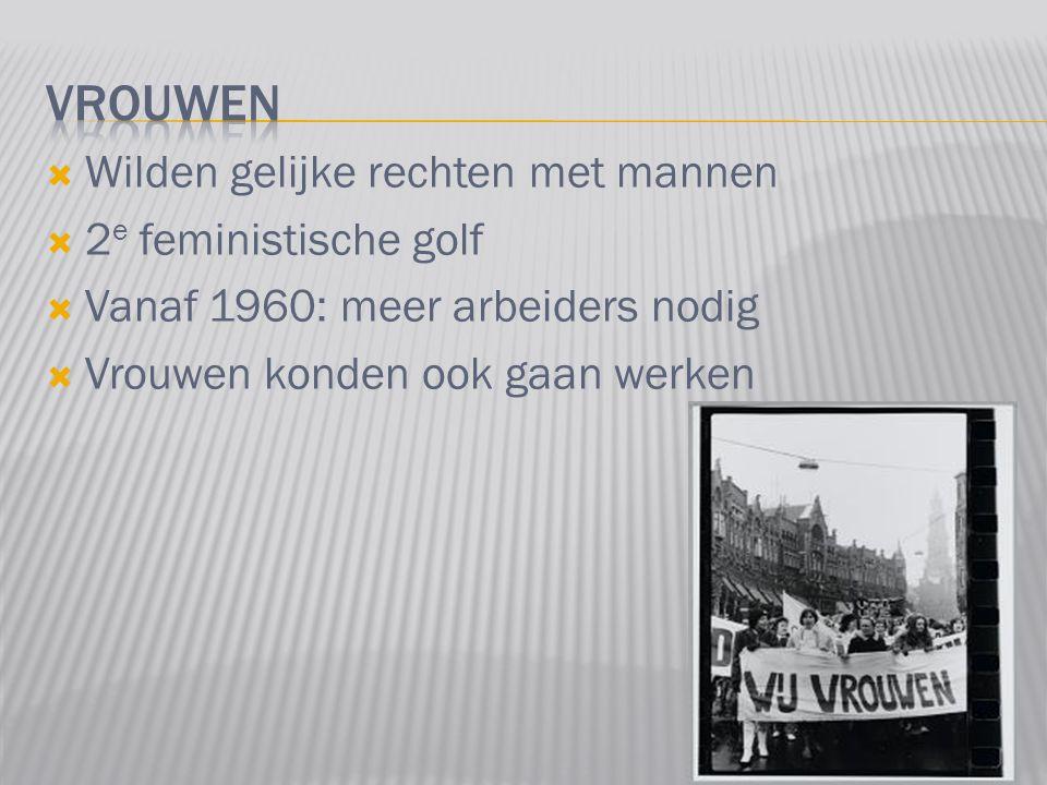 Vrouwen Wilden gelijke rechten met mannen 2e feministische golf