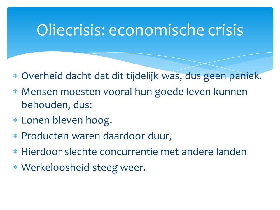 Oliecrisis: economische crisis