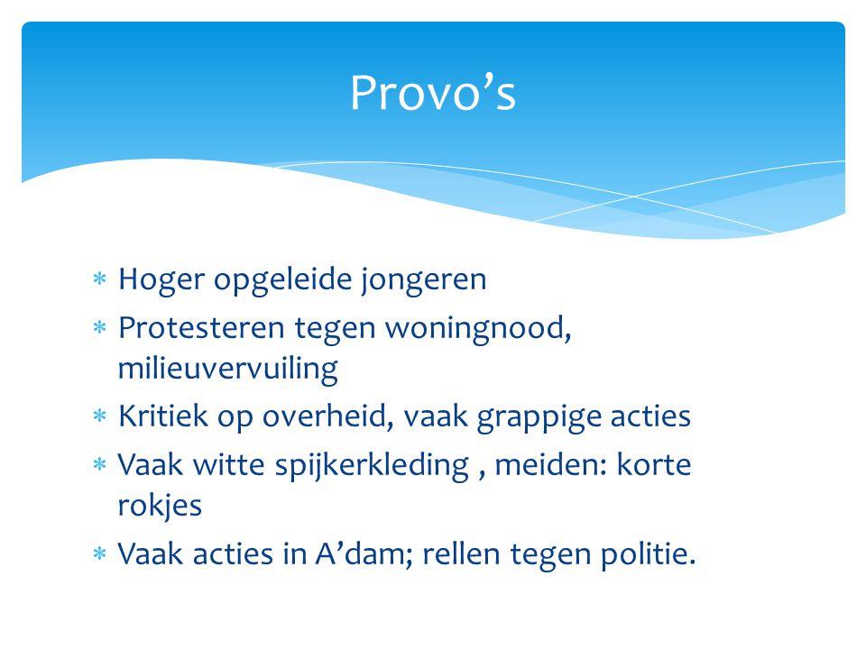 Provo's Hoger opgeleide jongeren