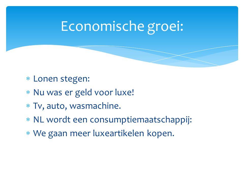 Economische groei: Lonen stegen: Nu was er geld voor luxe!