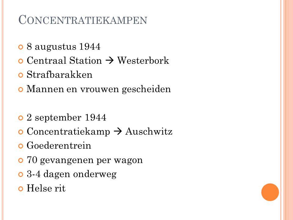 Concentratiekampen 8 augustus 1944 Centraal Station  Westerbork