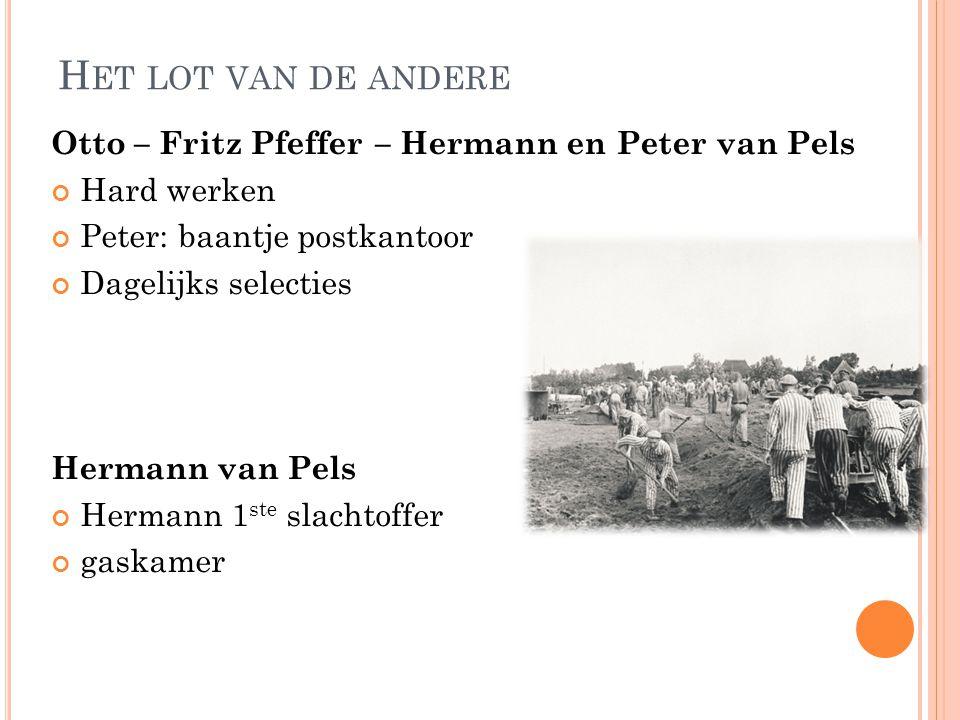 Het lot van de andere Otto – Fritz Pfeffer – Hermann en Peter van Pels