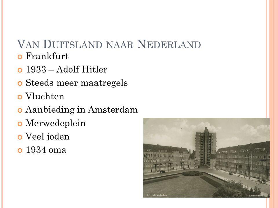 Van Duitsland naar Nederland