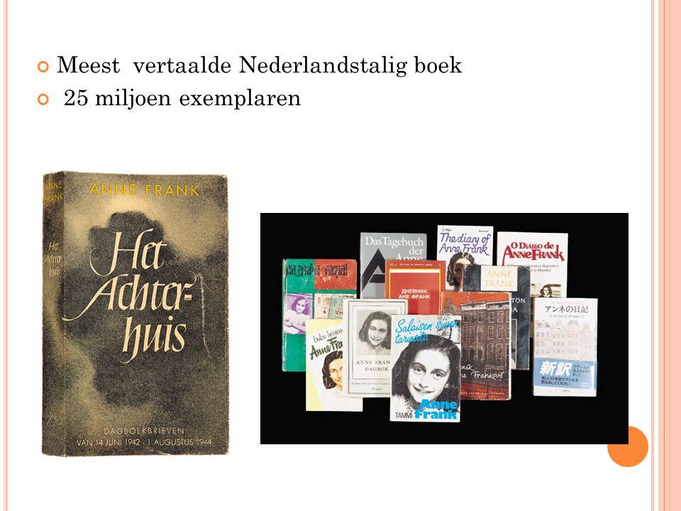 Meest vertaalde Nederlandstalig boek 25 miljoen exemplaren