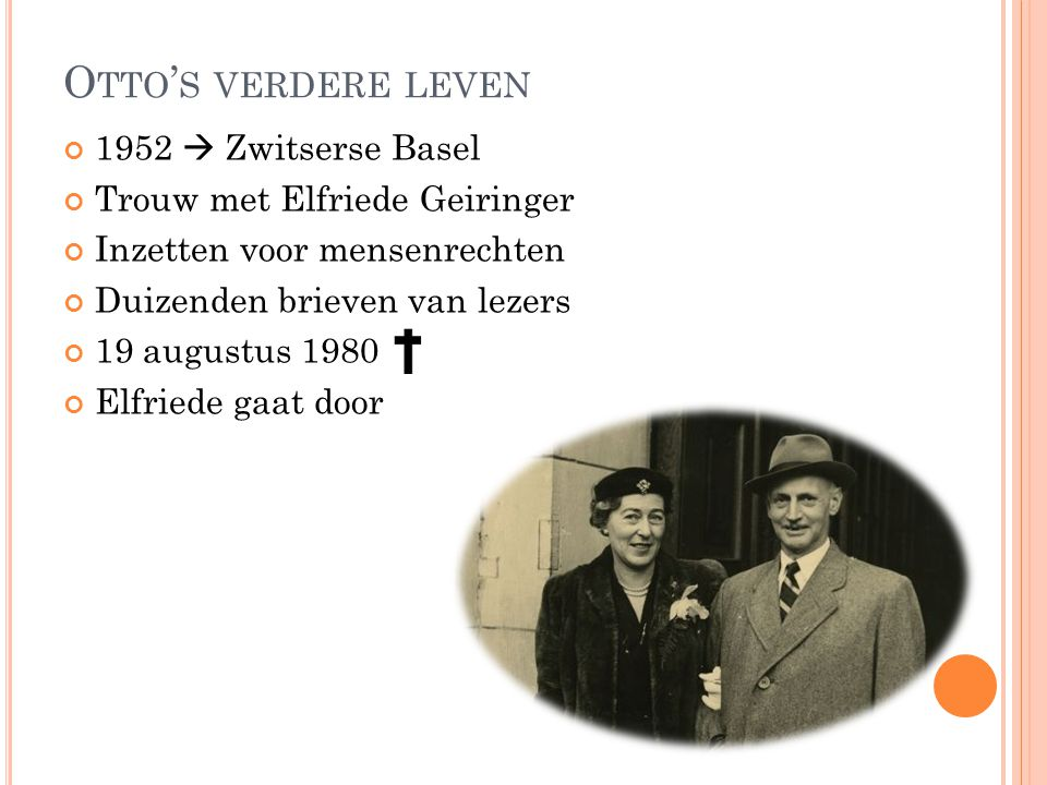 Otto's verdere leven 1952  Zwitserse Basel