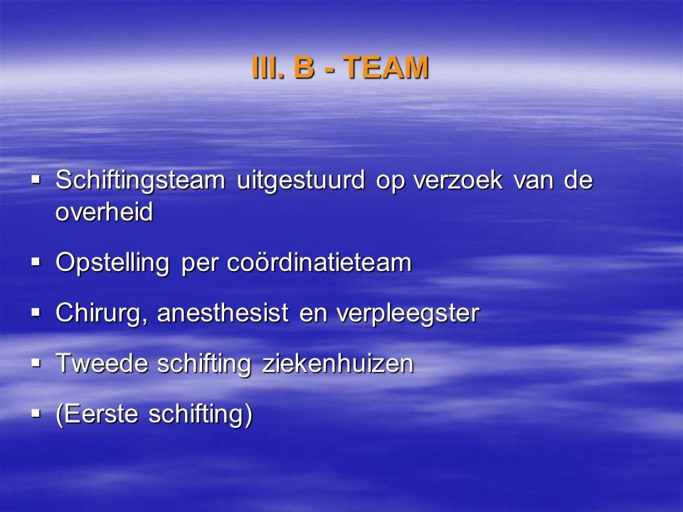 III. B - TEAM Schiftingsteam uitgestuurd op verzoek van de overheid