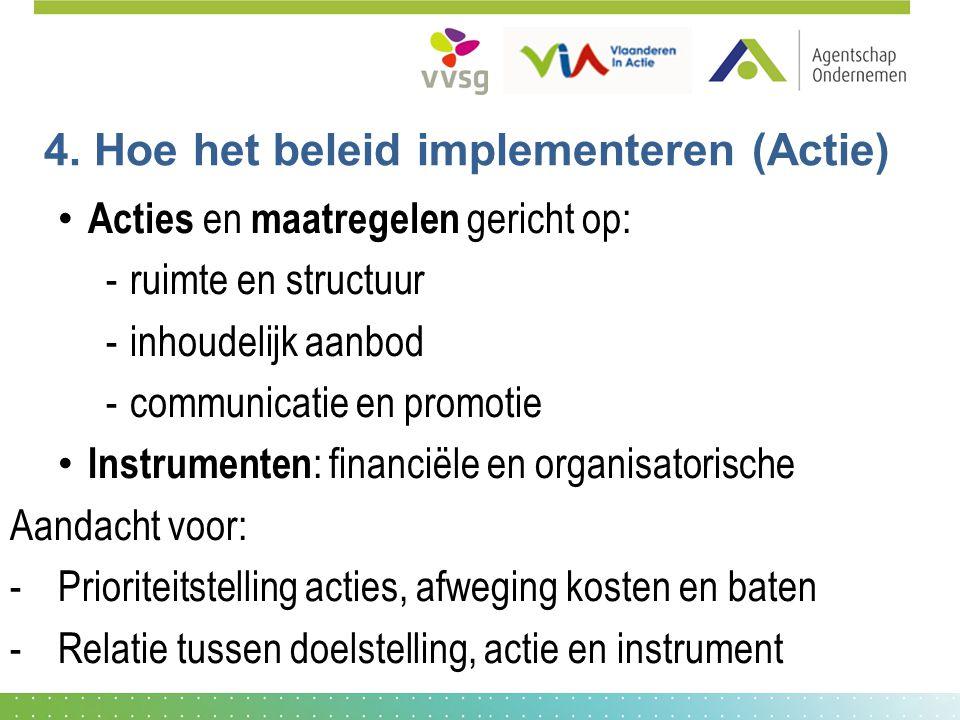 4. Hoe het beleid implementeren (Actie)