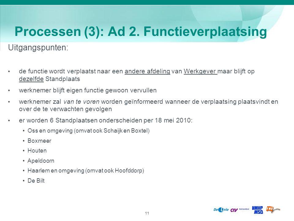 Processen (3): Ad 2. Functieverplaatsing