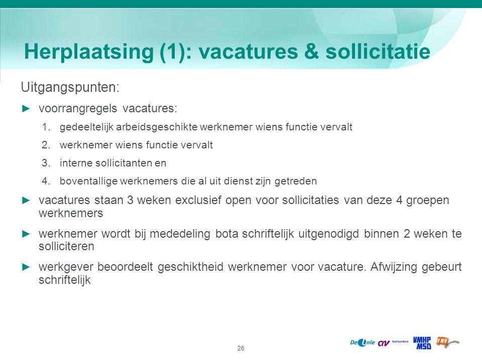 Herplaatsing (1): vacatures & sollicitatie