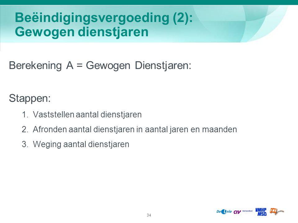 Beëindigingsvergoeding (2): Gewogen dienstjaren