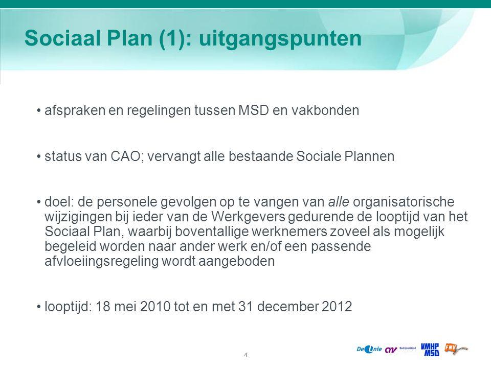 Sociaal Plan (1): uitgangspunten