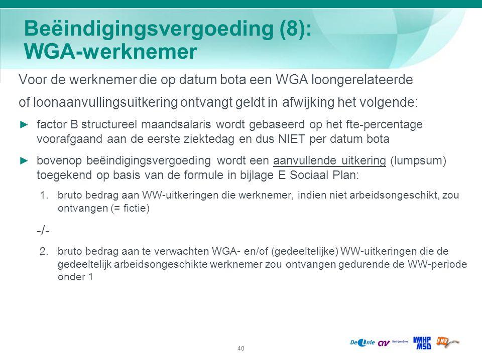 Beëindigingsvergoeding (8): WGA-werknemer