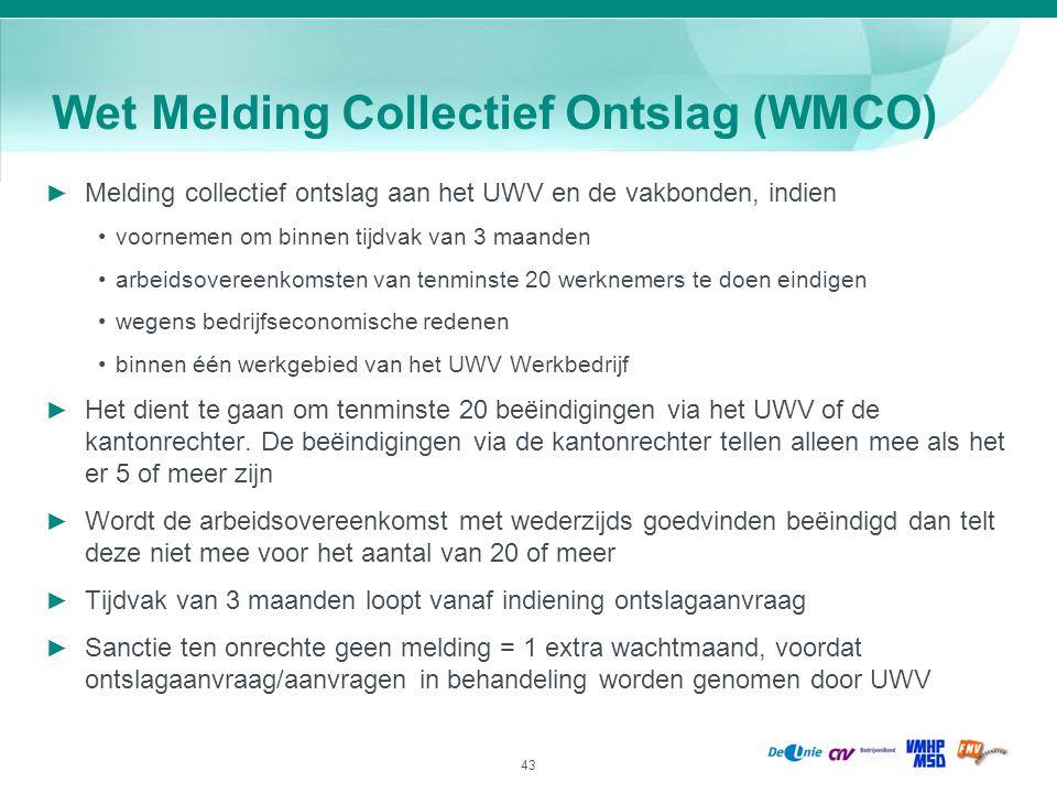 Wet Melding Collectief Ontslag (WMCO)