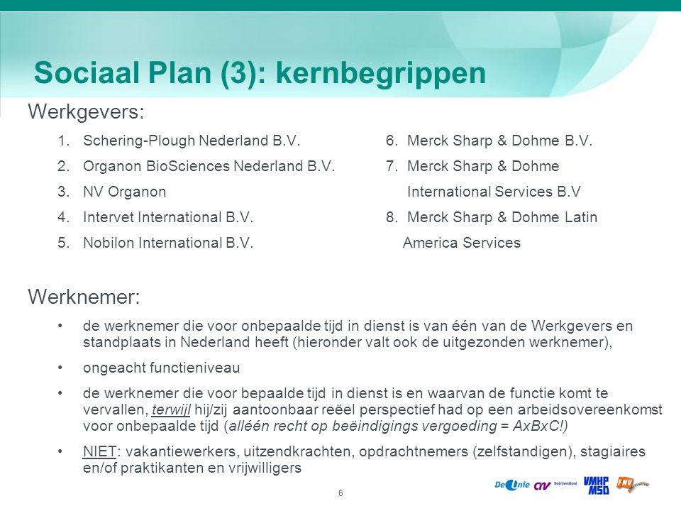 Sociaal Plan (3): kernbegrippen