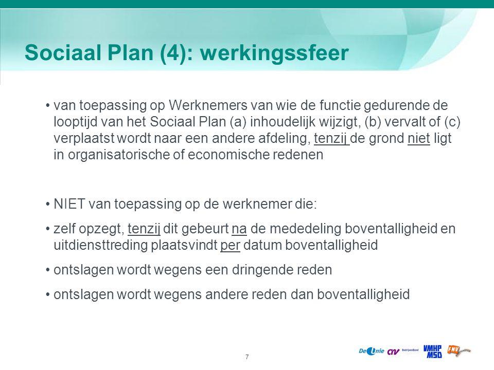 Sociaal Plan (4): werkingssfeer