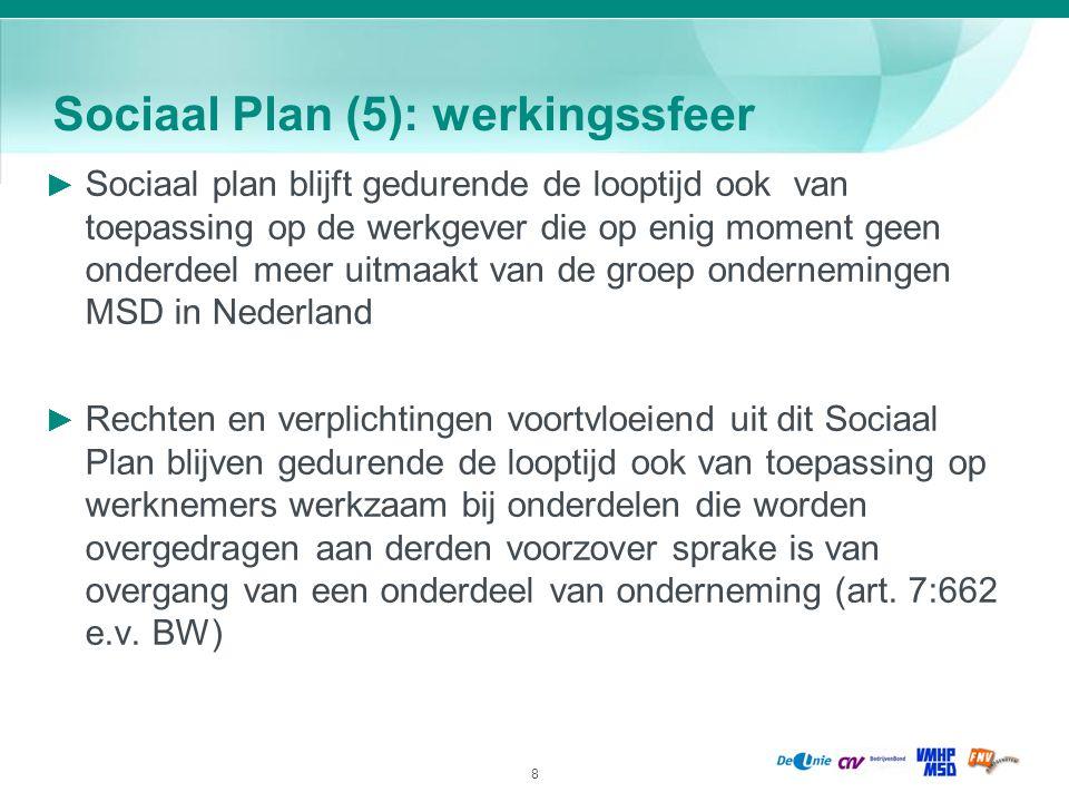 Sociaal Plan (5): werkingssfeer