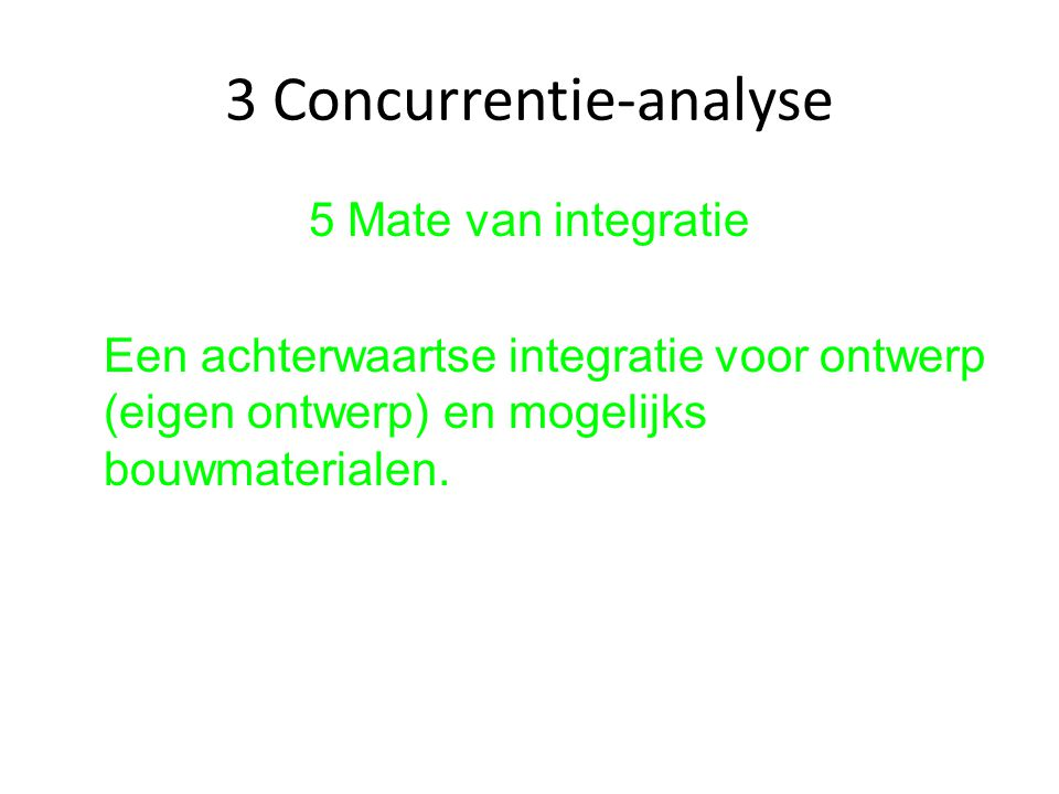 3 Concurrentie-analyse
