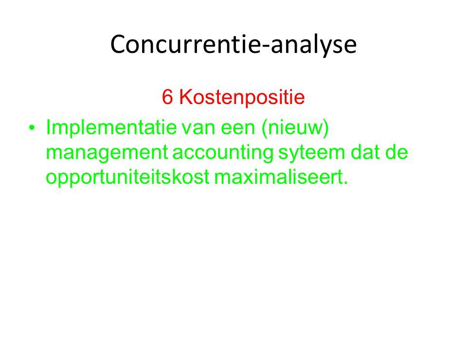 Concurrentie-analyse