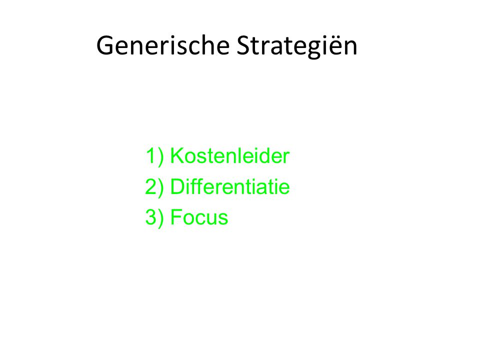 Generische Strategiën