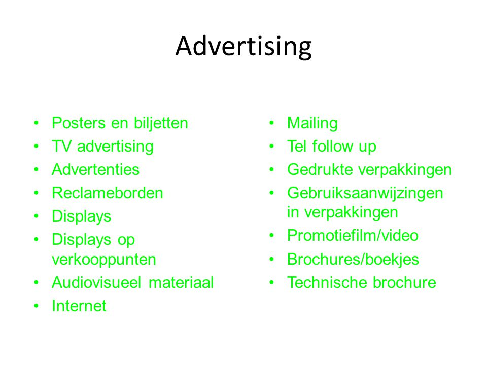 Advertising Posters en biljetten TV advertising Advertenties