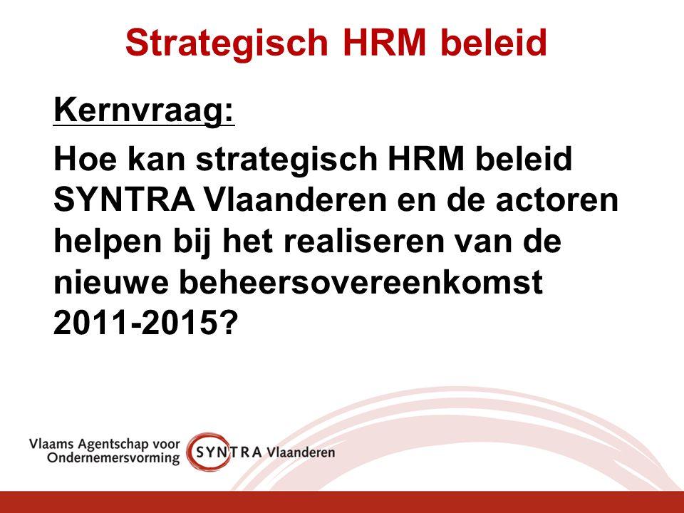 Strategisch HRM beleid