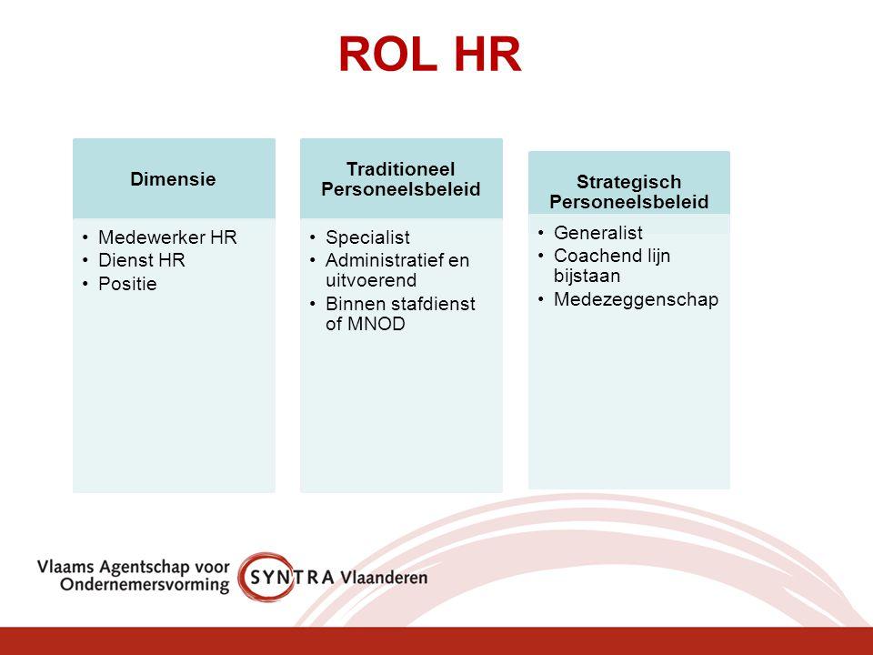Traditioneel Personeelsbeleid Strategisch Personeelsbeleid