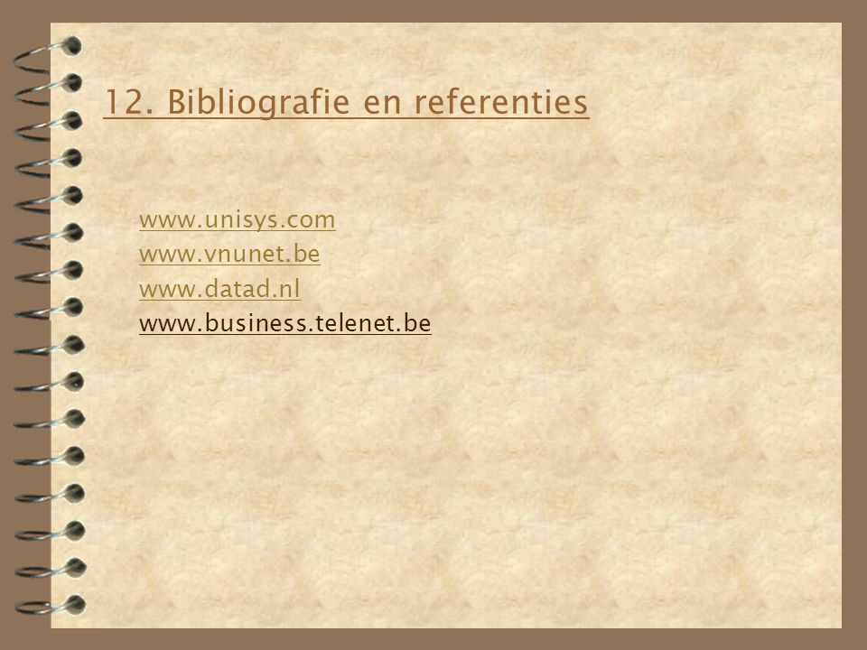 12. Bibliografie en referenties