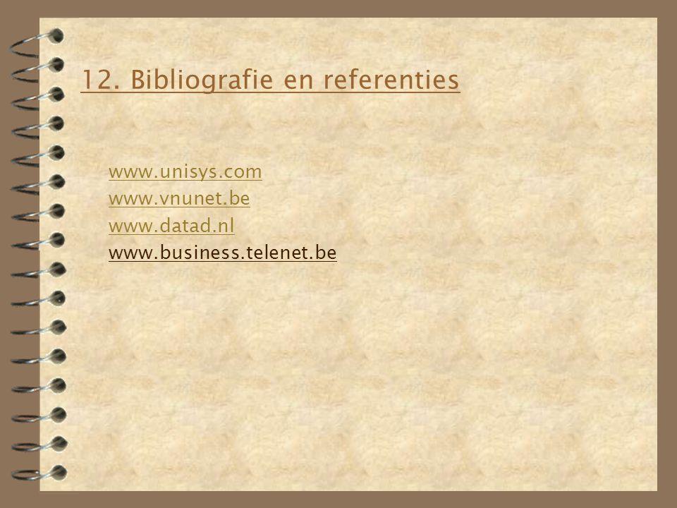 12. Bibliografie en referenties