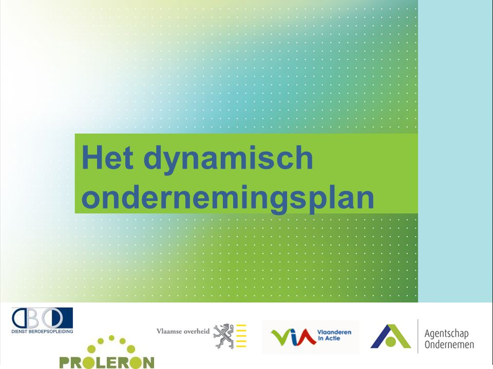 Het dynamisch ondernemingsplan