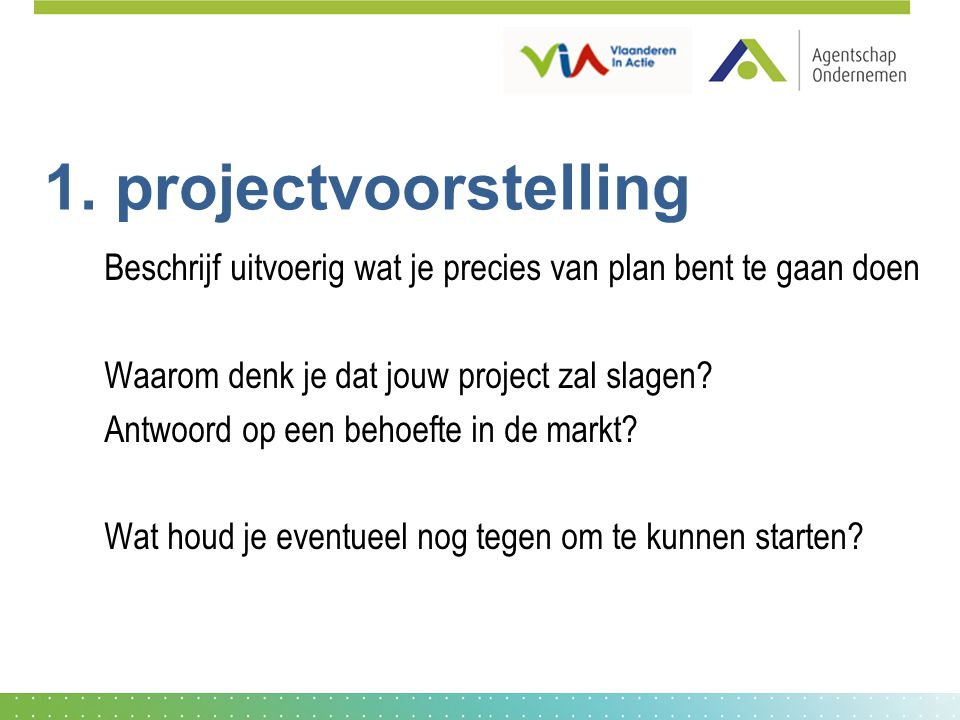 1. projectvoorstelling