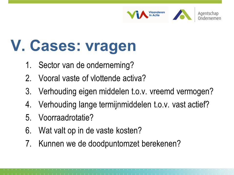 V. Cases: vragen Sector van de onderneming