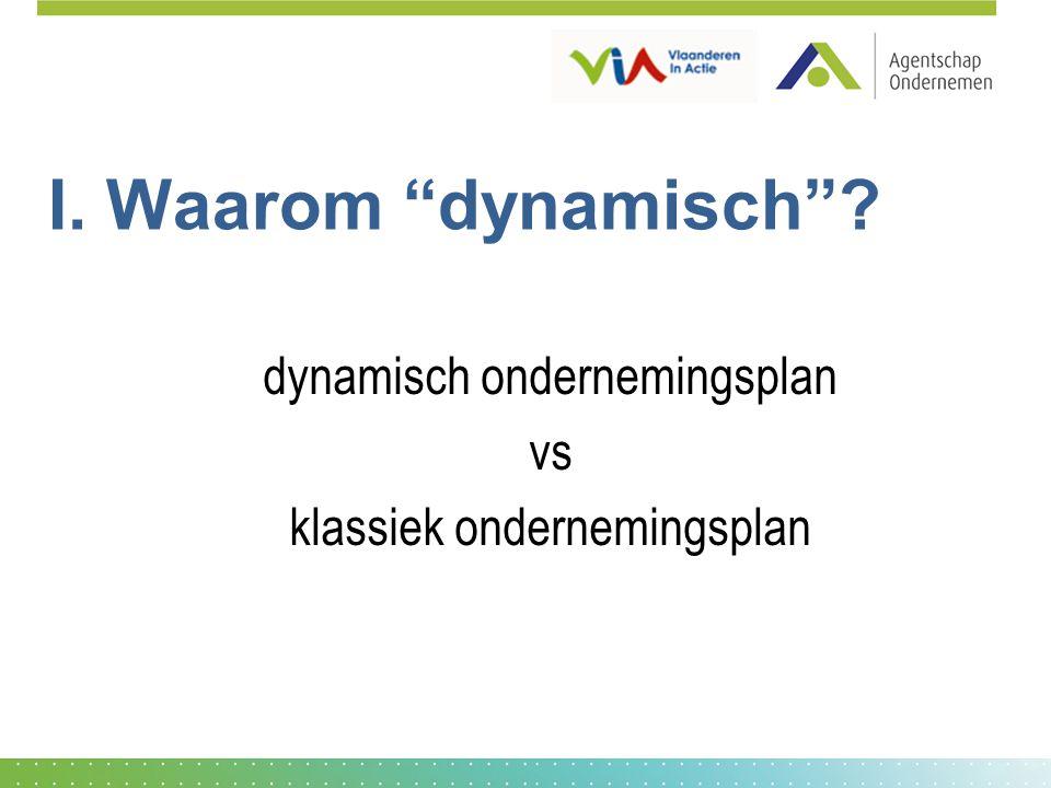 dynamisch ondernemingsplan vs klassiek ondernemingsplan