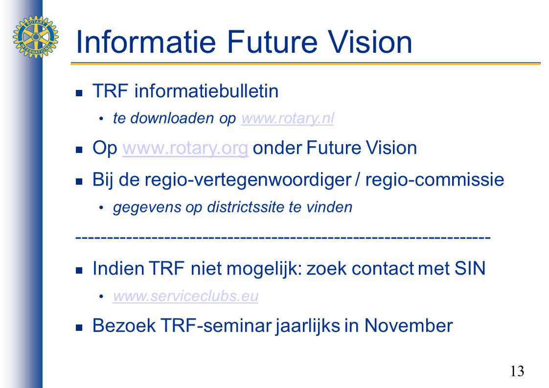 Informatie Future Vision