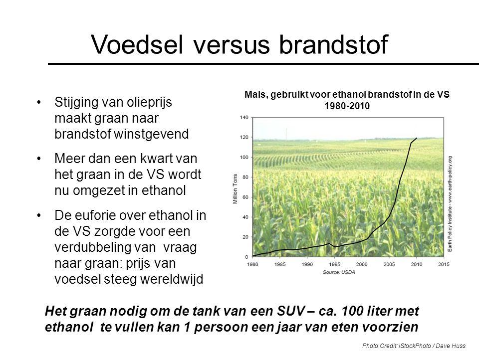 Mais, gebruikt voor ethanol brandstof in de VS