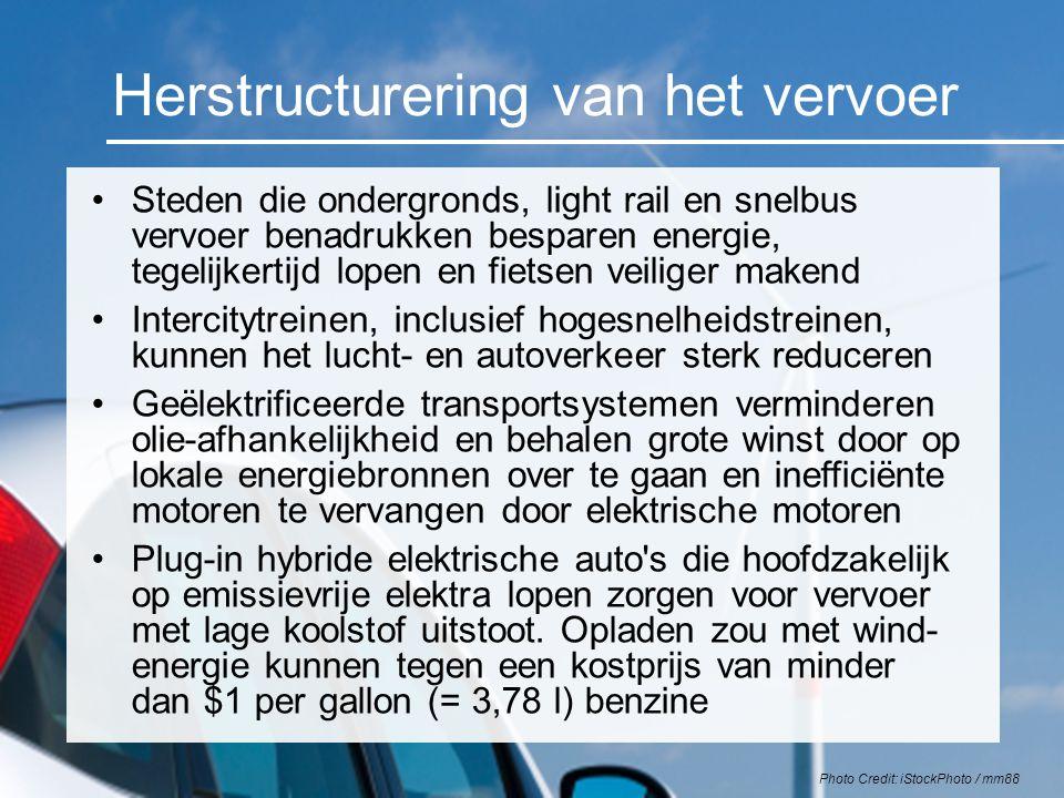 Herstructurering van het vervoer