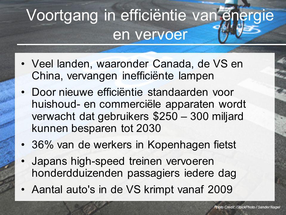 Voortgang in efficiëntie van energie en vervoer