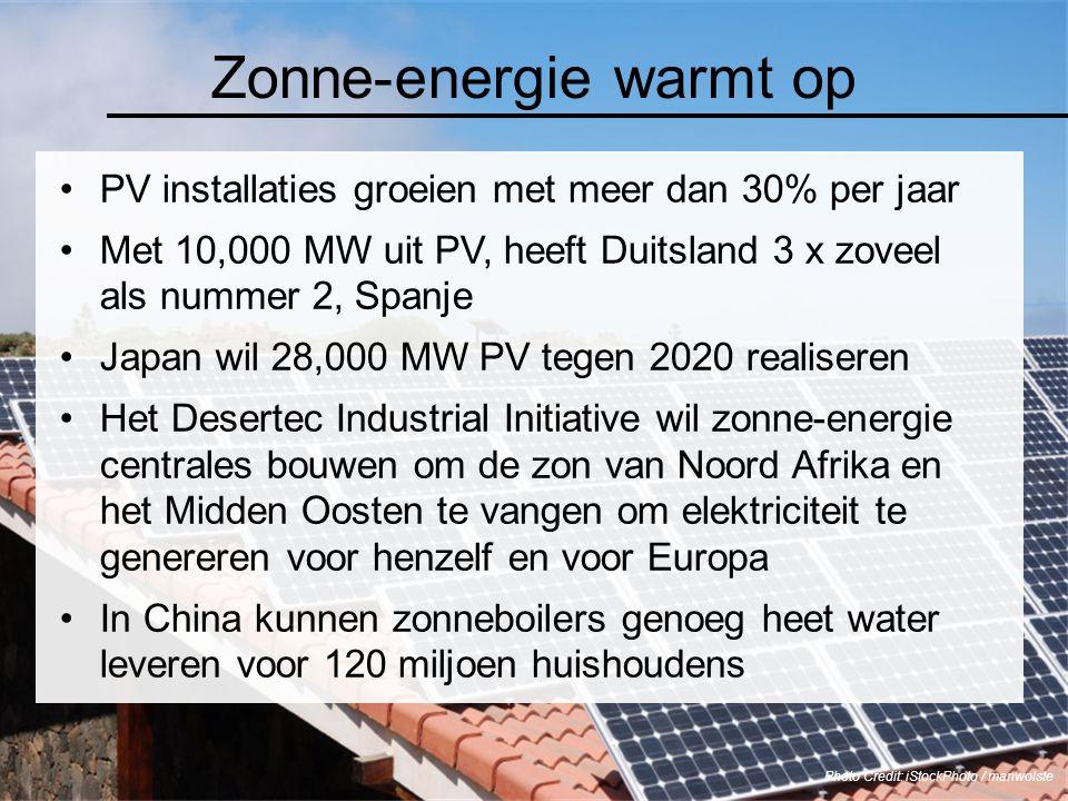 Zonne-energie warmt op