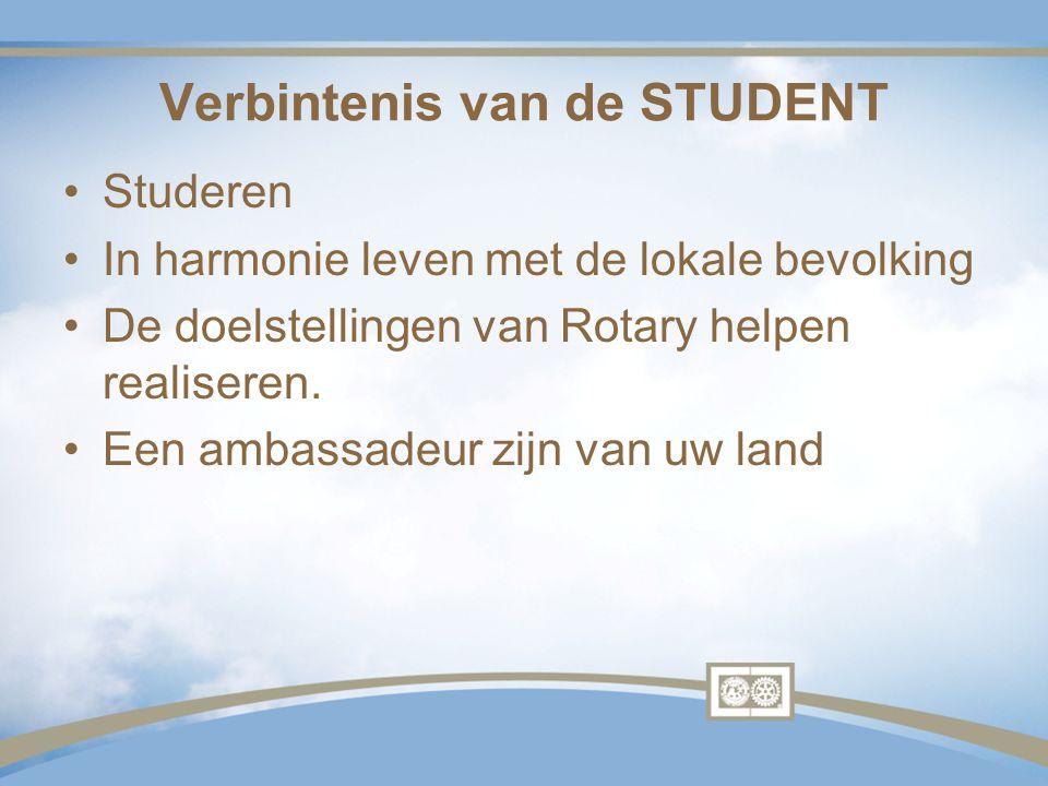 Verbintenis van de STUDENT