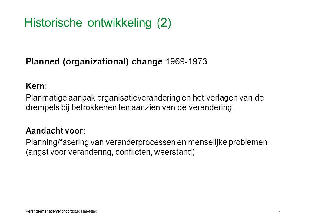 Historische ontwikkeling (2)