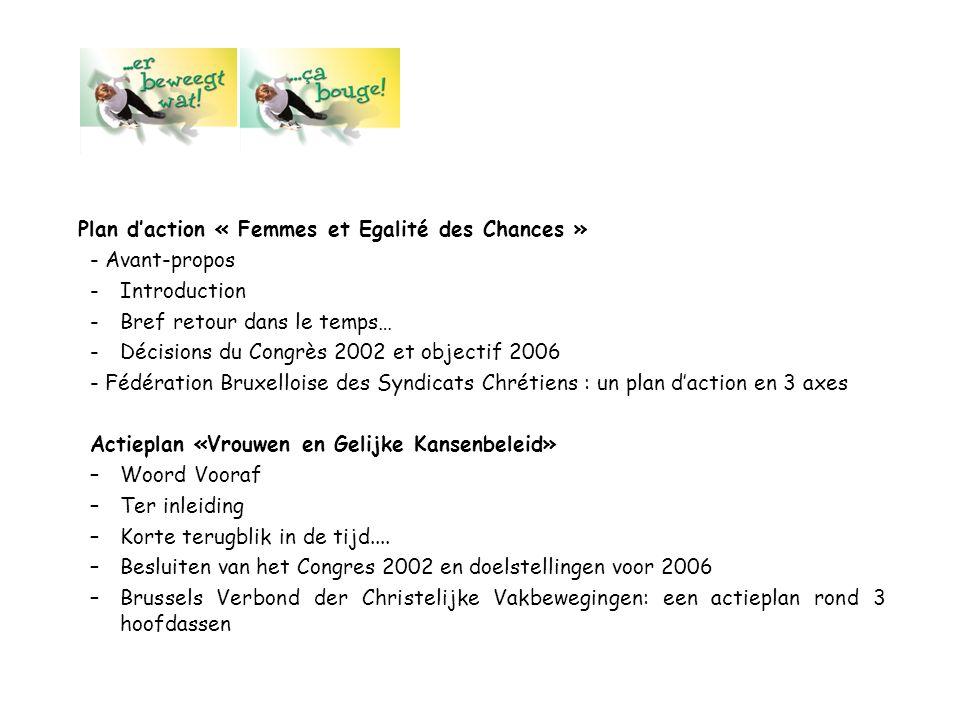 Plan d'action « Femmes et Egalité des Chances »
