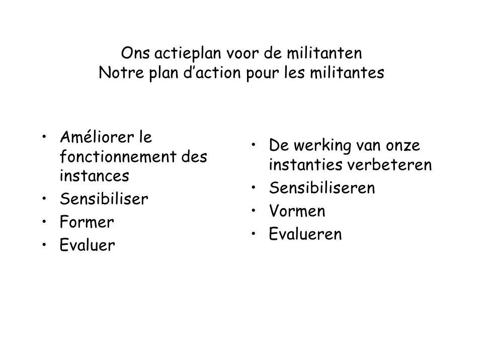 Ons actieplan voor de militanten Notre plan d'action pour les militantes