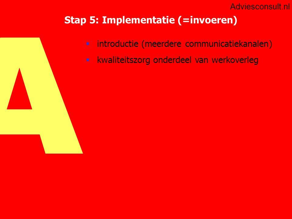 Stap 5: Implementatie (=invoeren)