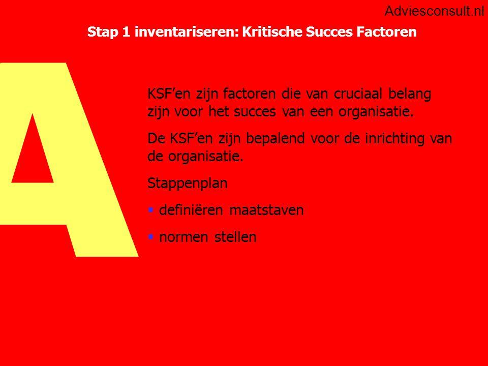 Stap 1 inventariseren: Kritische Succes Factoren