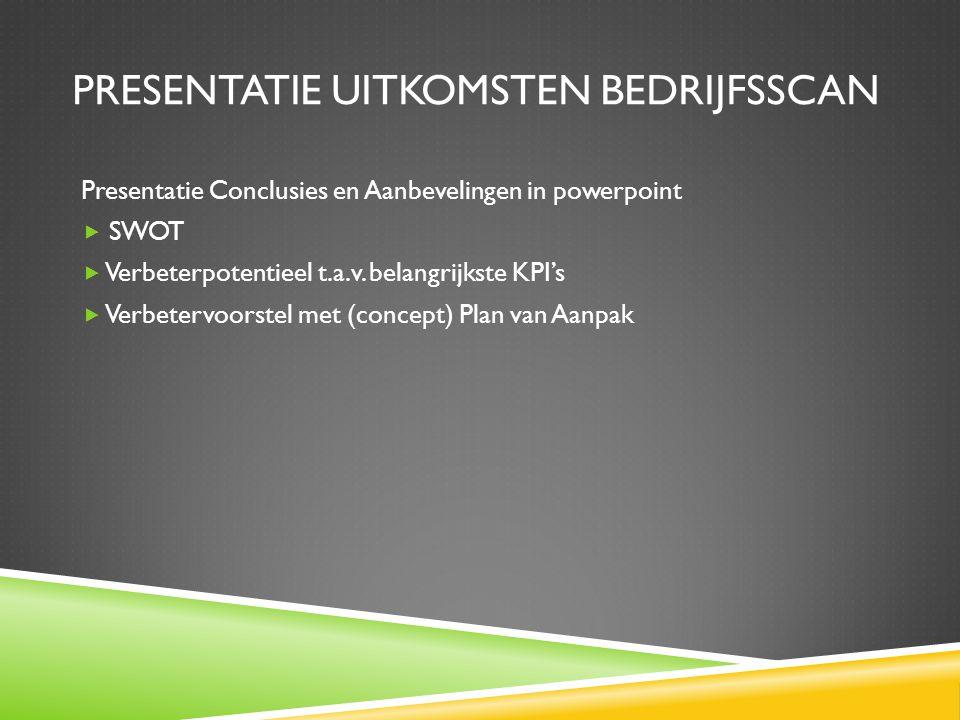 Presentatie uitkomsten bedrijfsscan