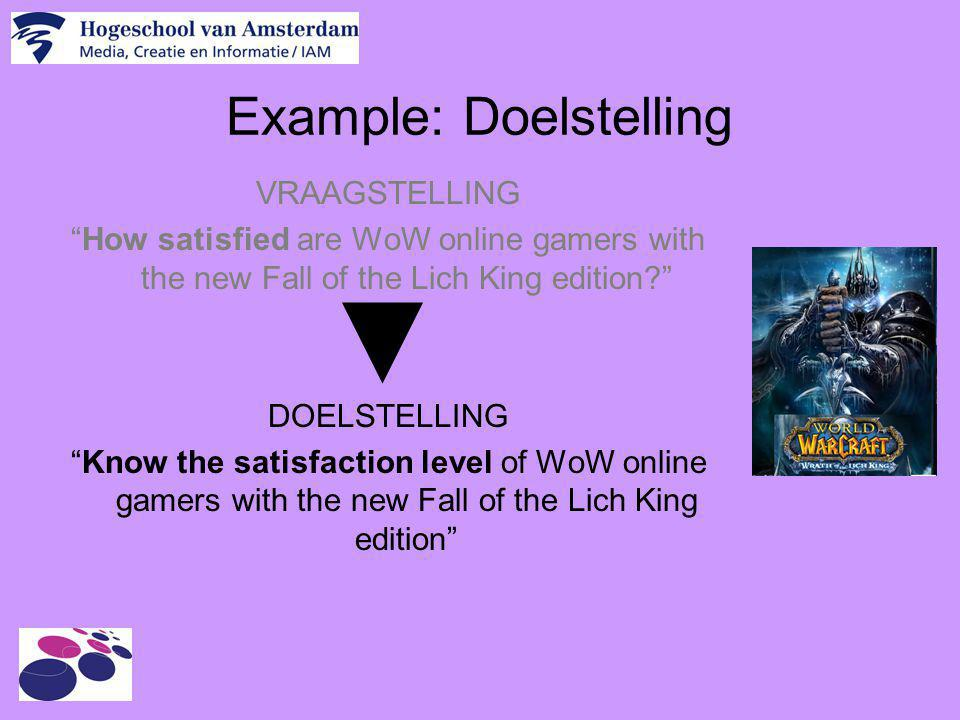 Example: Doelstelling
