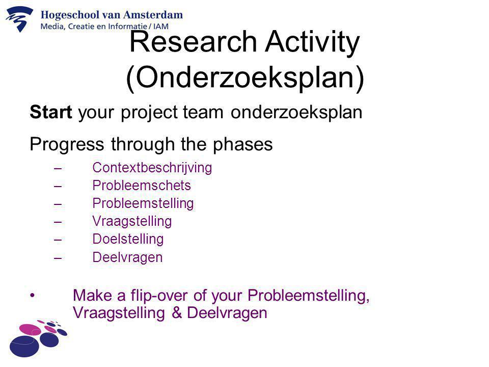 Research Activity (Onderzoeksplan)